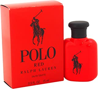 Ralph Lauren Polo Red Mini Eau de Toilette Splash for Men, 0.5 Ounce