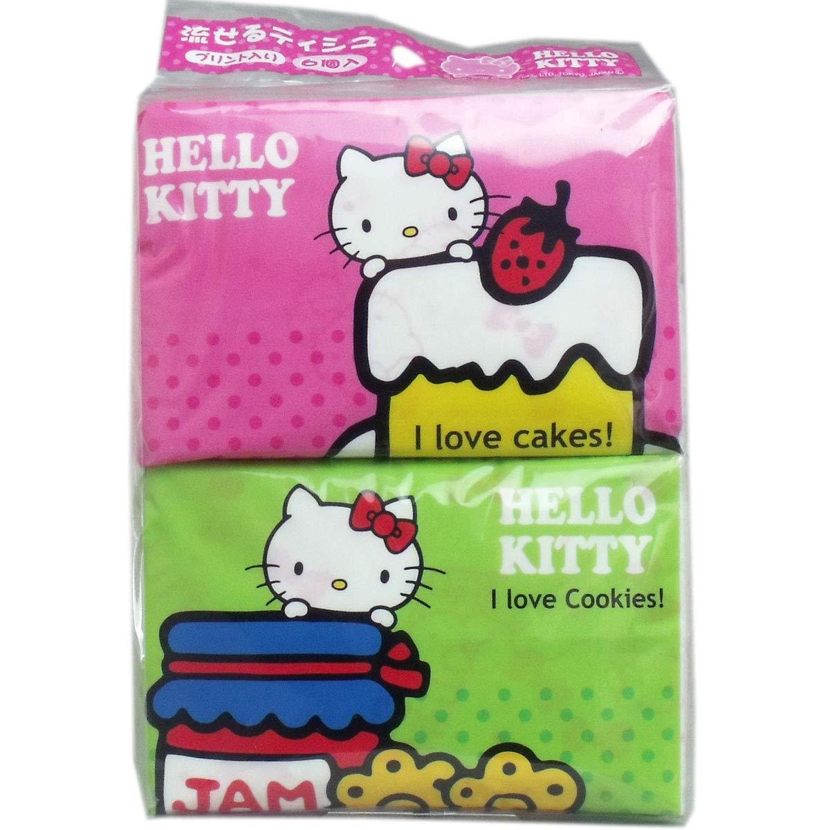 Hayashi Syoji Hello Kitty Flushable Max 45% OFF × Tissue Excellent Pocket 10 Sheet