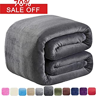 SOFTCARE Soft Queen Size Blanket for Fall Winter Spring All Season 350GSM Thicken Warm Fuzzy Microplush Lightweight Thermal Fleece Summer Autumn Blankets for Couch Bed Sofa Dark Gray 90
