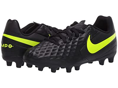 Nike Kids Jr Legend 8 Club FG/MG Soccer (Toddler/Little Kid/Big Kid) (Black/Volt) Kids Shoes