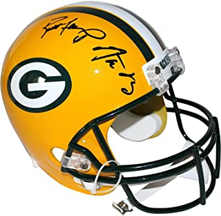 Aaron Rodgers/Brett Favre Dual Signed Packers Authentic Proline Helmet - Steiner Sports Certified - Autographed NFL Helmets