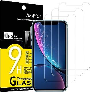 NEW'C Lot de 3, Verre Trempé Compatible avec iPhone 11 et iPhone XR (6.1), Film Protection écran sans Bulles d'air Ultra R...