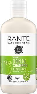 SANTE Naturkosmetik Jeden Tag Shampoo Bio-Apfel & Quitte, Milde Haarpflege für normales Haar, Tägliche sanfte Reinigung, Spendet Feuchtigkeit, Vegan, 250ml