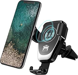 Wireless Car Charger,Fast Charger Car Mount Air Vent Gravity Phone Holder for iPhone X/8/8 Plus, Samsung Galaxy NoteS9 8/S 8/S 8+/S 7/S 6 Edge+/Note 5 and Most Qi Enable Devices (Black)