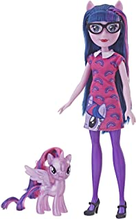 "My Little Pony Equestria Girls Through The Mirror Twilight Sparkle -- 11"" Fashion Doll with Purple Pony Figure, Removable ..."