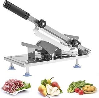 Kesntto Vleessnijder, roestvrij stalen ribbotsnijder, instelbare handmatige snijmachine, bevroren vleessnijder en groentes...