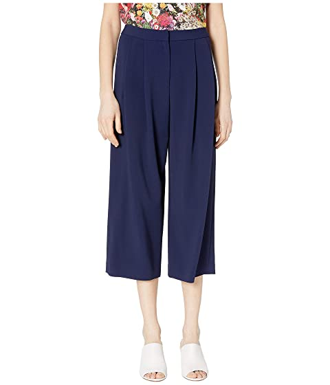 Adam Lippes Stretch Cady Pleat Front Culotte