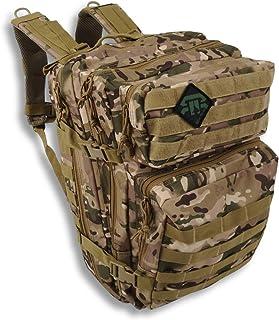 – Mochila táctica militar de gran capacidad extensible 40 L + sistema Molle – para camping, caza, airsoft, paintball, trekking senderismo, supervivalismo viaje – con funda para ordenador