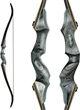 """Black Hunter Original Takedown Recurve Bow, Compact Fast Accurate 60"""" Archery Hunting Bow for Hunting Target Practice- Rig..."""