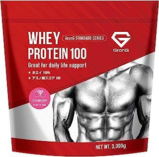 GronG(グロング) ホエイプロテイン100 スタンダード ストロベリー風味 3kg
