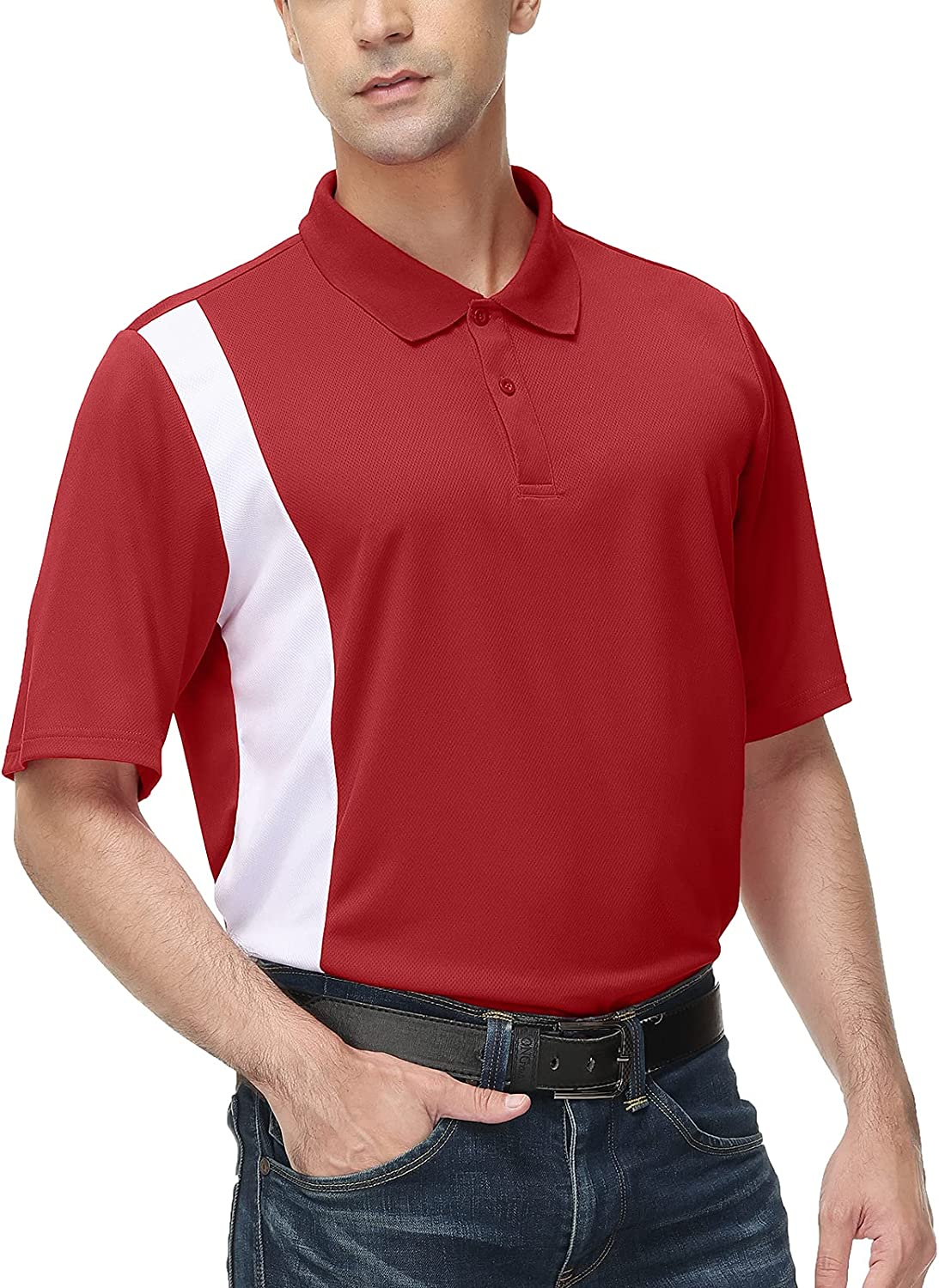 Men's Casual Classic Fit Short Color Max 78% OFF Moisture Blo Sleeve Wicking Kansas City Mall