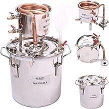 AU_TRULYSTEP 10 L-100 Liters DIY Home Distiller Moonshine Still Boiler Cooler Thermometer Wine Spirits Essential Oil Water...