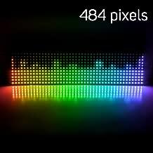 BTF-LIGHTING WS2812B Mini Led 2427 Digital Individually Addressable Flexible LED Panel 11x44 484 Pixels Full Dream Color Lighting DC5V