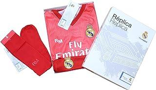 Personalizador Conjunto Complet Infantil Real Madrid Réplica Oficial Licenciado de la Tercera Equipación Temporada 2018-19 Sin Dorsal