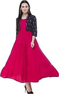 AnjuShree Choice Women Stitched Pink Rayon Anarkali Kurti