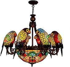 Tiffany kroonluchter lamp Europese stijl creatieve klassieke papegaai vogel decoratieve lamp tiffany gekleurde glas woonka...