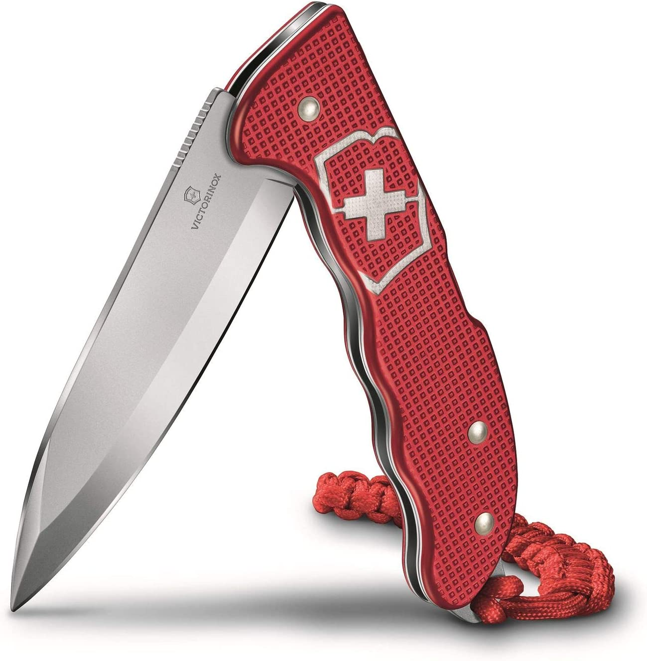 Victorinox Swiss Army Hunter Pro Alox Stainless Steel Pocket Knife with Clip Paracord