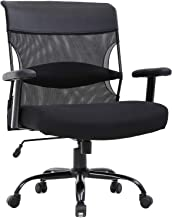 Big and Tall Office Chair 500lbs Wide Seat Desk Chair Ergonomic Computer Chair Task Rolling Swivel Chair with Lumbar Suppo...