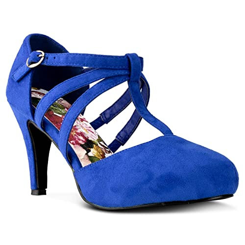4a154bf8341 City Classified Coco-22 Women s Vegan D Orsay Mary Jane T-Strap Mid