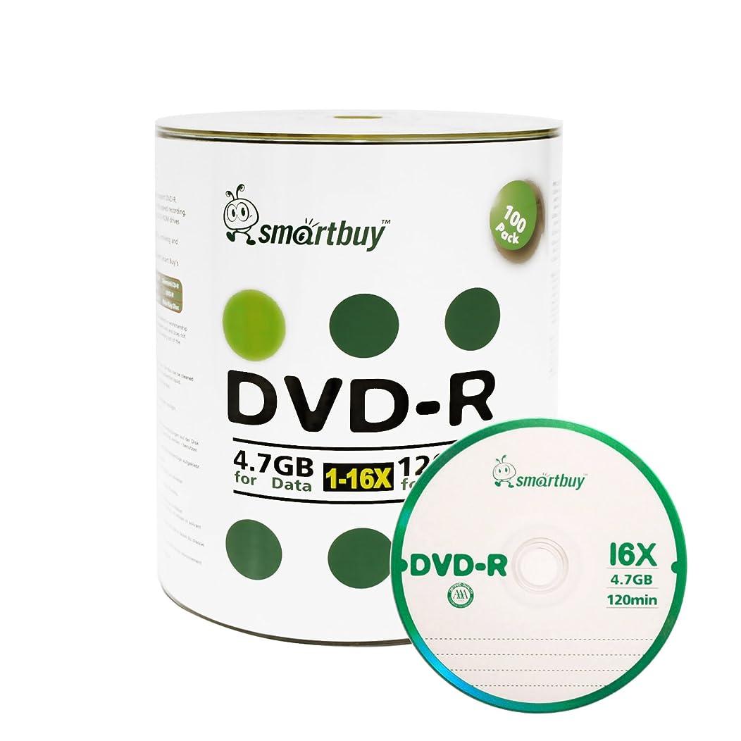 Smartbuy 100-disc 4.7gb/120min 16x DVD-R Logo Top Blank Data Recordable Media Disc