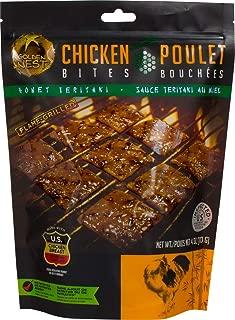 Golden Nest Chicken Jerky Bites, Gluten Free, Healthy Homemade Style BBQ Meat From Gourmet USA Chicken, Award Winning Premium Jerky, 4 Ounces (Honey Teriyaki)