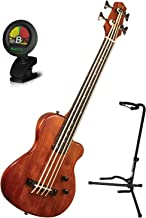 Goldtone ME Bass FL Fretless 4 String w/ Gig Bag, Stand, and Tuner