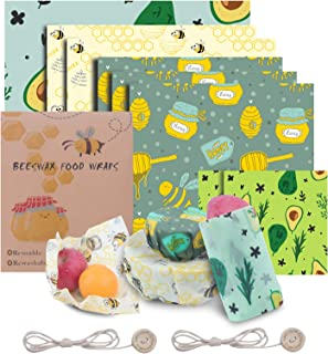 Bienenwachstücher 8er Set – Bio Wickeltücher aus Bienenwachs – 100% Natürlich & Umweltfreundlich Bienenwachstuch Wachstücher groß Beeswax wrap – Wiederverwendbar - Lebensmittelecht