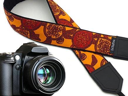 Skulls and Roses and Golden Fish Code 00293 Halloween Camera Strap Sugar Skulls Camera Strap DSLR Camera Strap