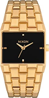 NIXON Ticket A1262 - All Gold/Black - 50 Meter / 5 ATM Water Resistant Men's Analog Fashion Watch (34mm Watch Face, 30mm-23mm Stainless Steel Band)