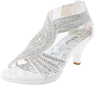 fca30203576d JJF Shoes -62 Womens Strappy Rhinestone Dress Sandal Low Heel Shoes
