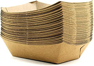 Tytroy Brown Kraft Paper Food Serving Trays Disposable Food Boats Take Home Bowls (50 pc)