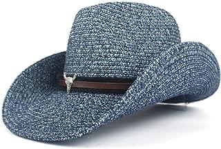 Bin Zhang Unisex Paper Cowboy Hats Wide Brim Sun Protection Cap Men Women Beach Sunhat Sunshade Cap Jazz Straw Hat Sombrero