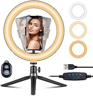 "VicTsing Ring Light Telefono LED, Luce per Selfie, Ring Light Tiktok 10"" (25.4 cm) per YouTube, Desktop con Treppiede a 36..."