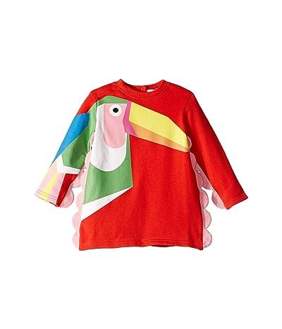 Stella McCartney Kids Toucan Sweatshirt Dress (Infant) (Red) Girl