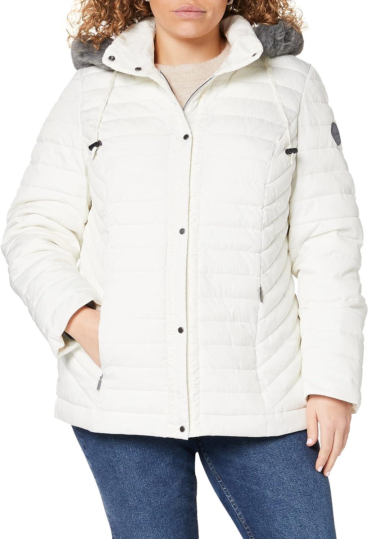 Ulla Popken Women's Plus Size Ruffle Trim Triple Function Quilted Jacket White 20/22 748815 20