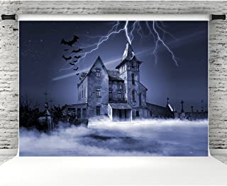 7x5ft Halloween Photography Backdrop Vinyl Abandoned Haunted House Photographic Studio Photo Backgrounds Props for Holiday