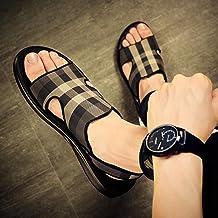 ShSnnwrl Hommes Pantoufles de Luxe Portent des Sandales de Plage à la Mode et desTongsextérieures antidérapantes perso...