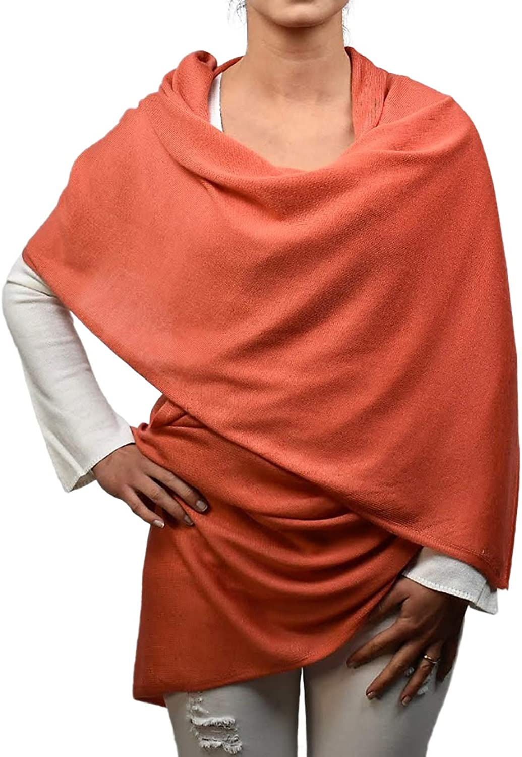 Dalle Piane Cashmere  Pashmina 70% cashmere 30% silk  Made in   Woman, color  orange, One size