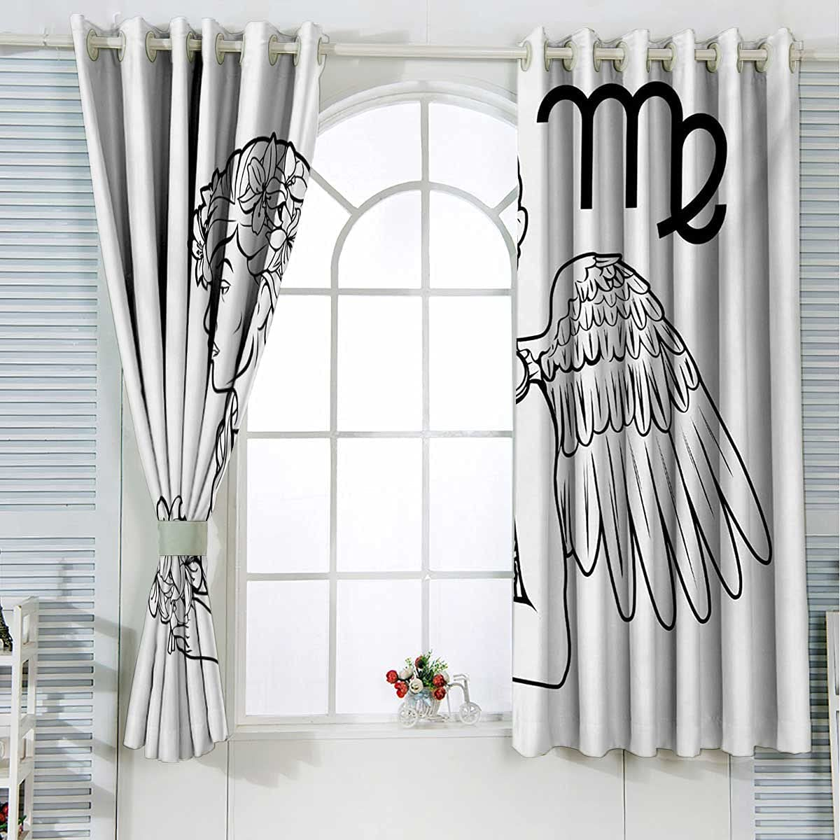 Zodiac Virgo Max 54% OFF Farmhouse Max 55% OFF Curtains Black Blackout White and Thermal