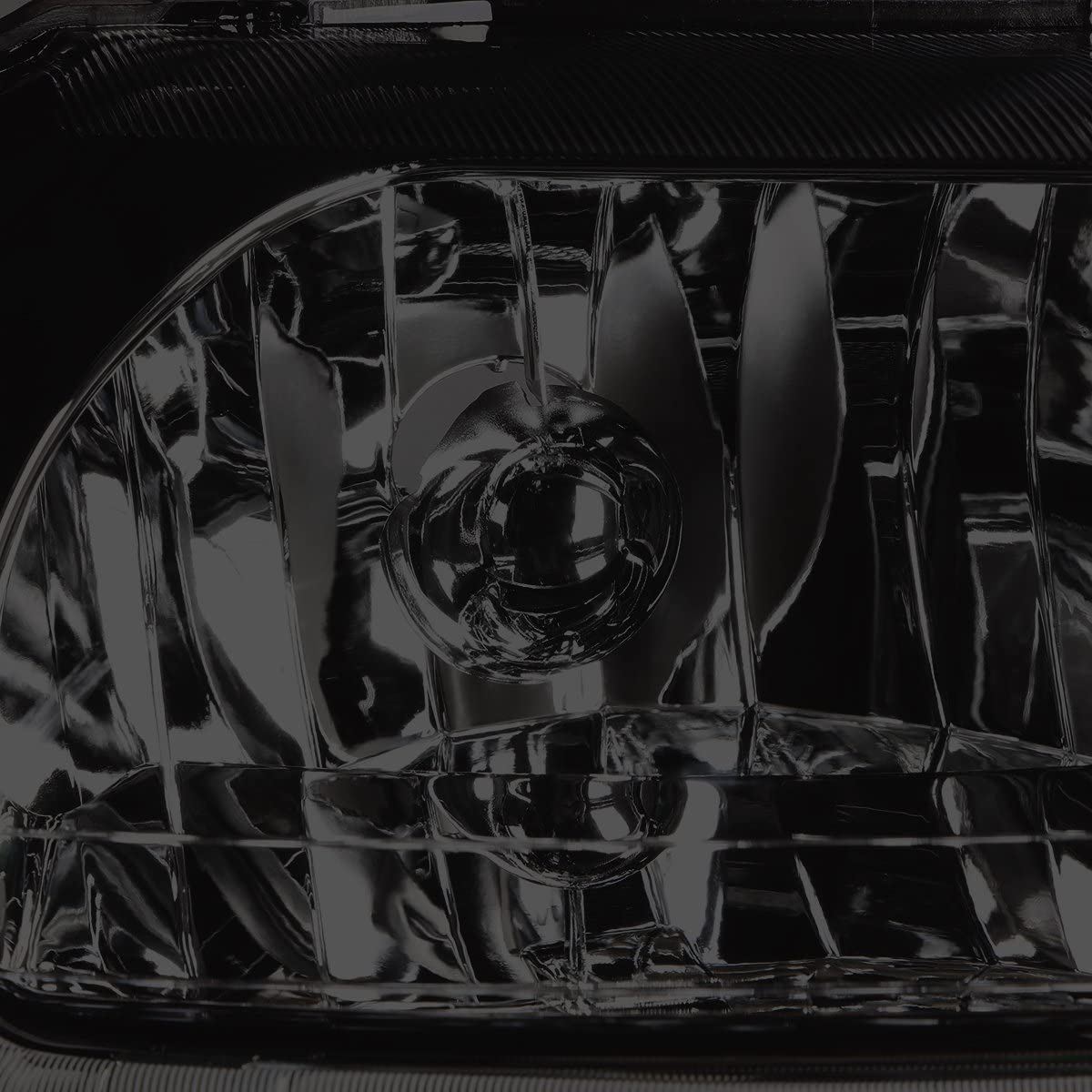 DNA Motoring HL-LB-FM99-CH-CL1 Chrome Housing Clear Corner LED Headlight For 99-04 Ford Mustang