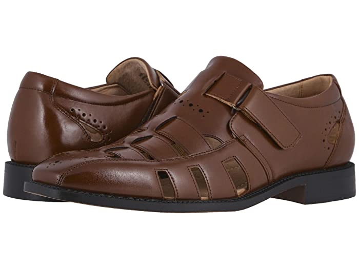 1950s Mens Shoes: Saddle Shoes, Boots, Greaser, Rockabilly Stacy Adams Calax Fisherman Sandal Cognac Mens Shoes $69.95 AT vintagedancer.com