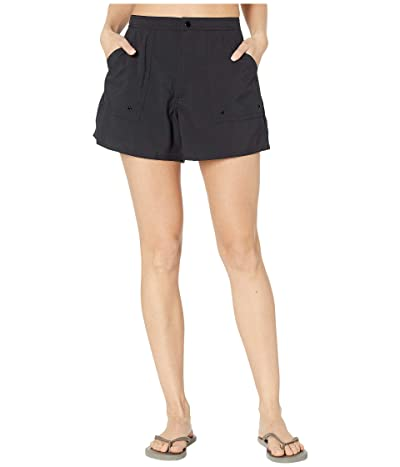 Maxine of Hollywood Swimwear Solids Woven Boardshorts (Black) Women