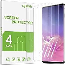 apiker [4 Stück] TPU Schutzfolie für Samsung Galaxy S10, Samsung Galaxy S10 TPU Displayschutzfolie, blasenfrei, hohe Definition, hohe Empfindlichkeit