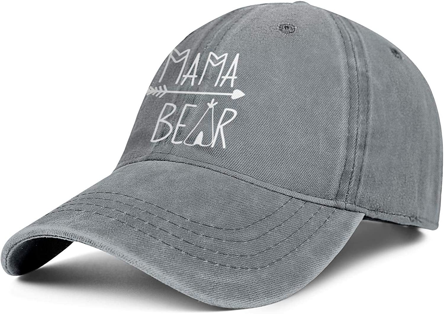 Mama Bear Ponytail Baseball Cap Messy Bun Vintage Washed Distressed Twill Plain Hat for Women Gifts for Mother's Day…