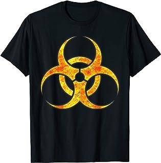 Radiation Toxic Biohazard feu Burning Flames T-Shirt