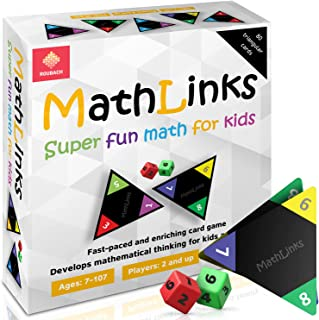 MATHLINKS Math Card Game for Kids - Fun and Educational Learning Games for Kids and Family - Math Games for Kids Age 7+