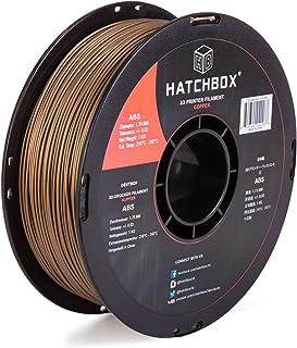 HATCHBOX ABS 3D Printer Filament, Dimensional Accuracy +/- 0.03 mm, 1 kg Spool, 1.75 mm, Copper