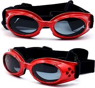 Jpamzceo 小型犬用 サングラス ゴーグル Dog ワンちゃん用 ドッグ 紫外線 予防 対策 ペット用品 グッズ ペット用 めがね メガネ 全5色