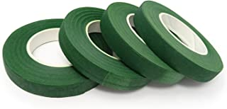 "Honbay 4 Rolls 1/2"" Wide 30Yard/Roll Floral Tapes for Bouquet Stem Wrap Florist Craft Projects (Dark Green)"