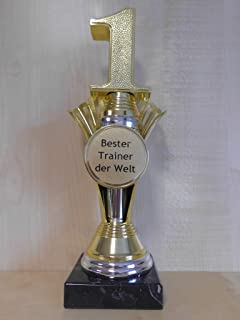 Fanshop L/ünen Pokal A324 Bester Tennisspieler der Welt Geschenk mit Gravur - Sportpokal 26 cm Gr Geburtstag Troph/äe